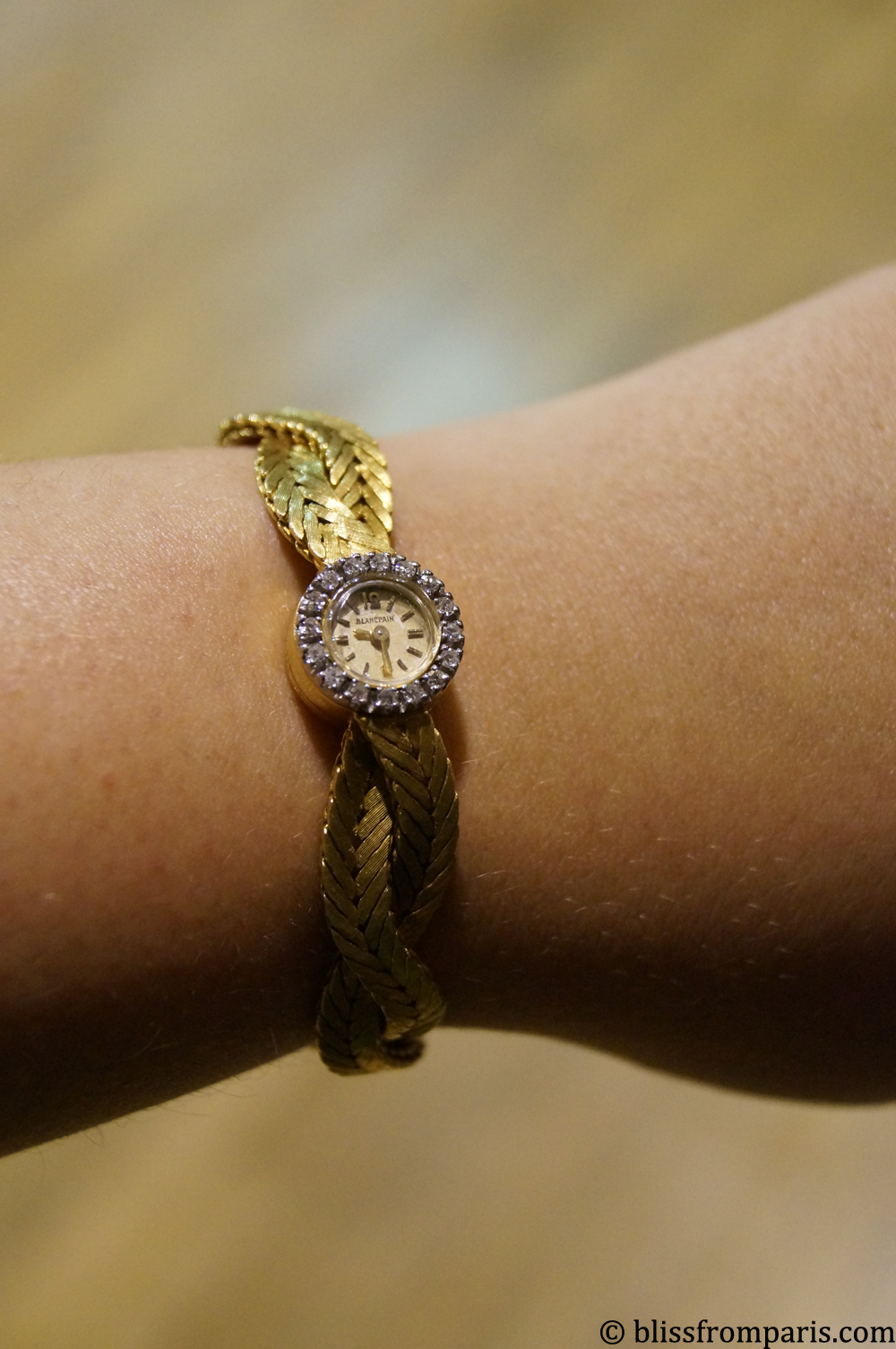 Montre Blancpain en or et diamants