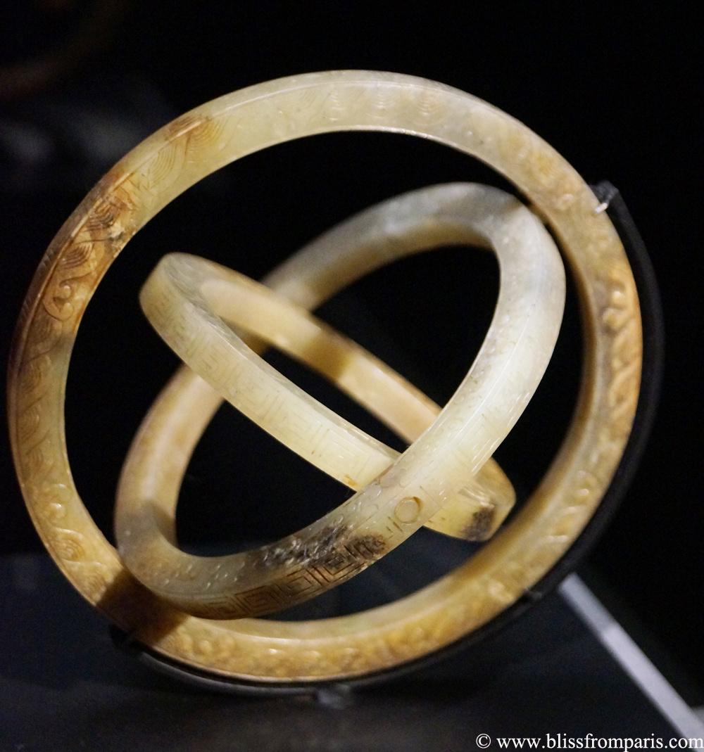 Sphère symbolisant le Ciel, la Terre et l'Homme, Chine, dynastie Ming, jade