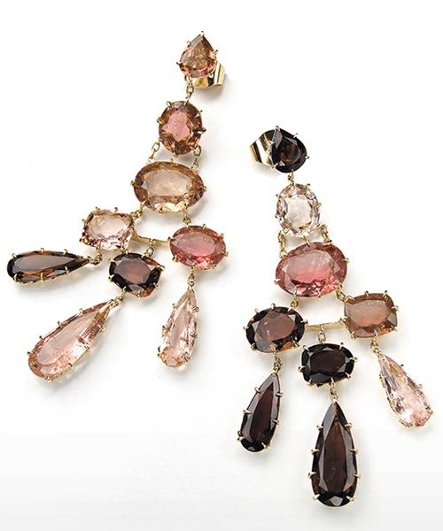 La collection Spring,or jaune, tourmalines rose © H. Stern