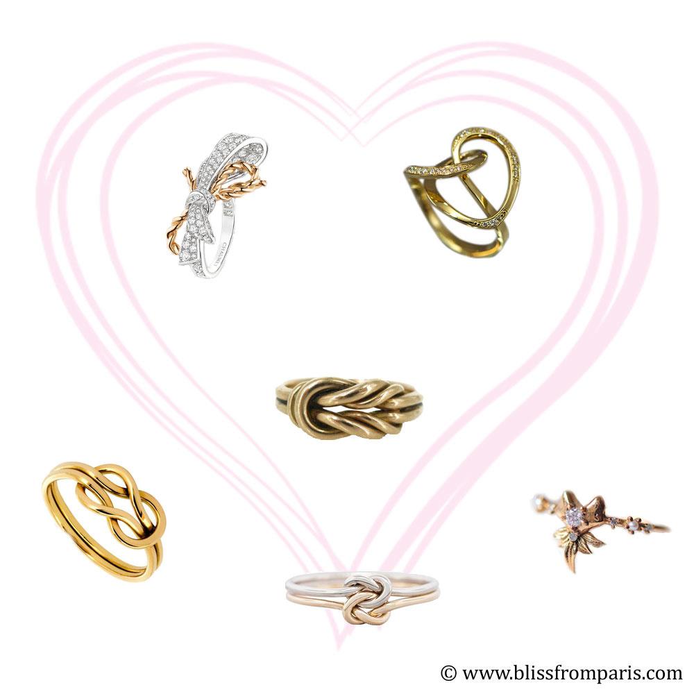 De haut en bas et de gauche à droite: Chaumet, Bénédikt Aïchelé, Susan Siegel Jewelry, Solange Azagury Partridge, TDN Creations, Morphe Jewelry