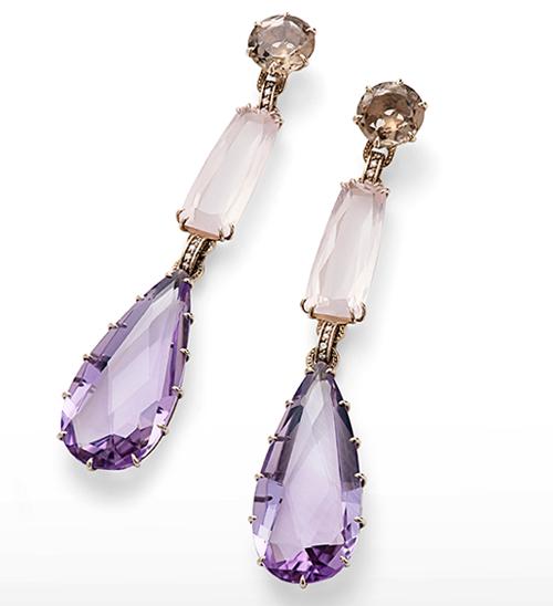 La collection Cobblestone, or noble,quartzs fumé, quartzs rose, ametystes, diamonts © H. Stern