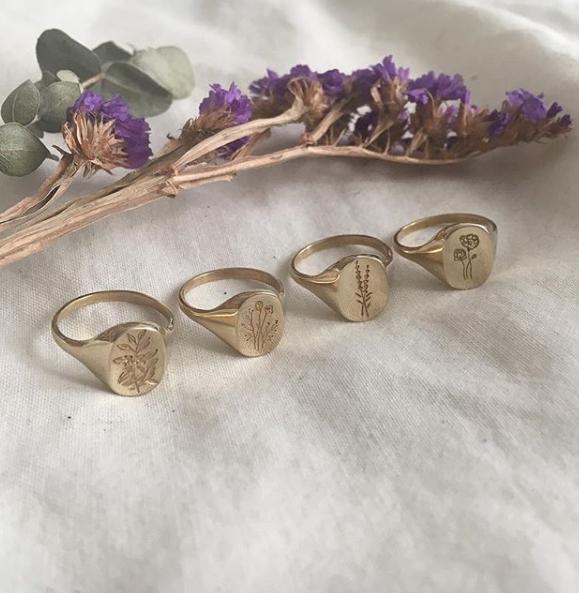 Claus Jewelry- Botanical Signets