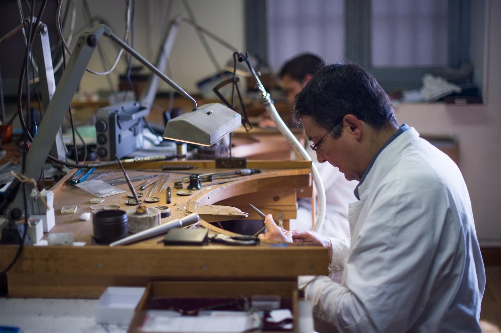 Pierre-Frédéric Tournis à l'atelier © Tournis