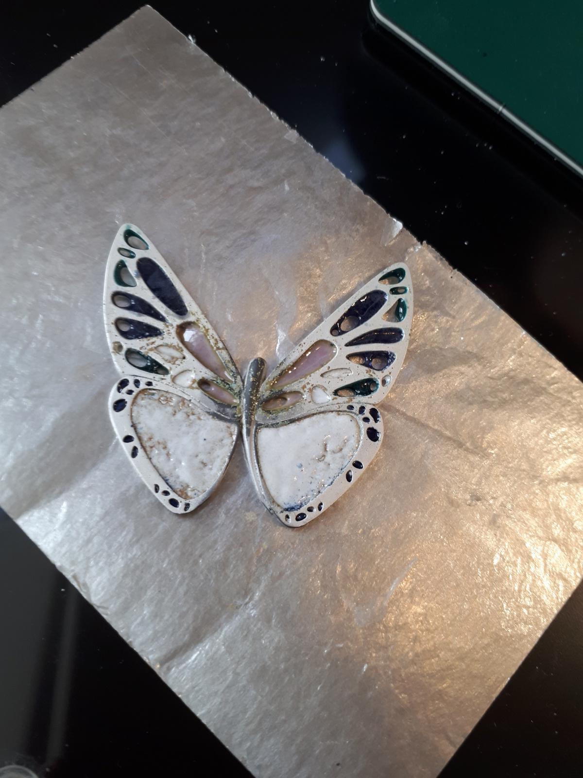 Mon papillon après la première cuisson au four